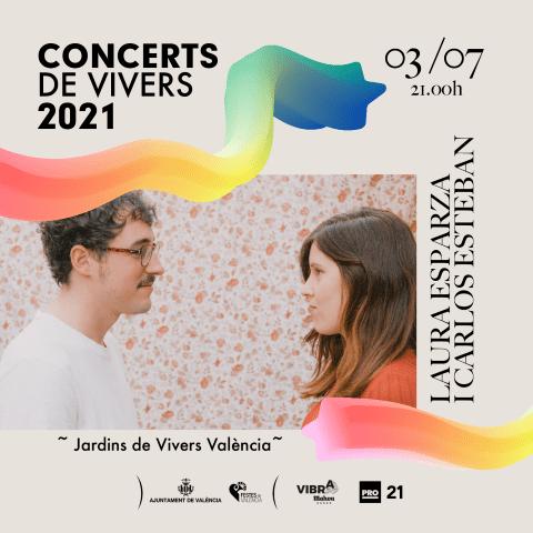 Laura Esparza i Carlos Esteban en los Conciertos de Viveros 2021