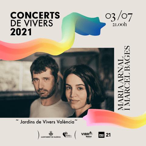 Maria Arnal i Marcel Bagés en los Conciertos de Viveros 2021