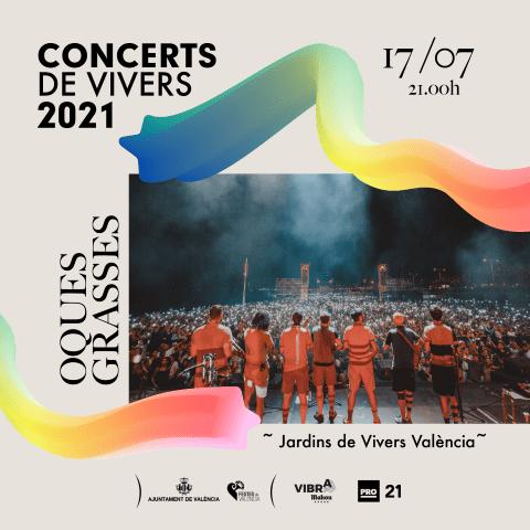Oques Grasses en los Conciertos de Viveros 2021