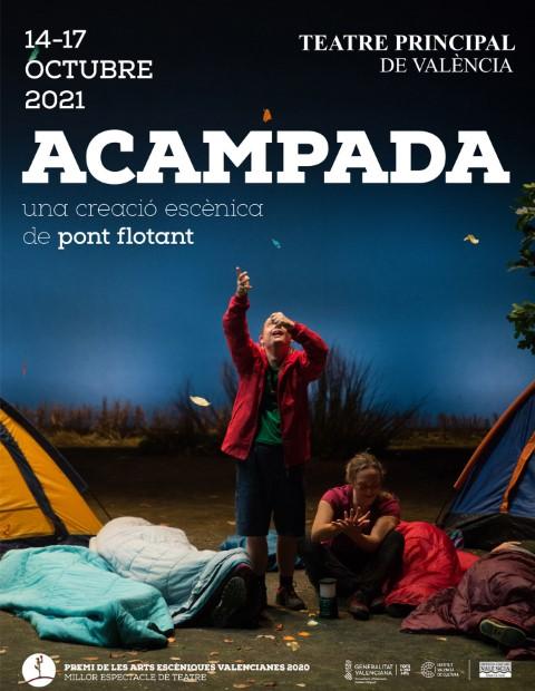 """""""Acampada"""" de PONT FLOTANT al Teatre Principal de València"""